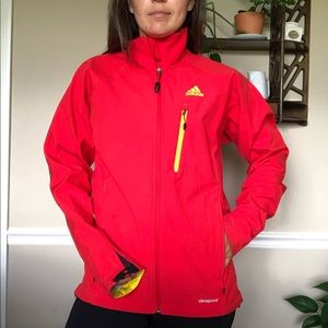 Adidas Outdoor Red Full Zip Shell Jacket